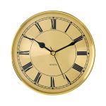 "6 1/4"" Gold Clock Insert with Gold Bezel"