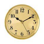 "5 7/8"" Gold Clock Insert with Gold Bezel"