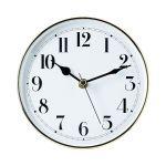 "5 7/8"" White Clock Insert with Gold Bezel"