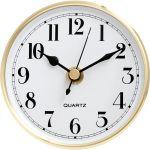 "3 15/16"" White Clock Insert with Gold Bezel"