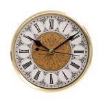 """5 1/8"""" Fancy Clock Insert with Gold Bezel"""
