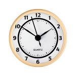 "2 3/4"" White Clock Insert with Gold Bezel"