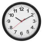 "10"" Round Wall Clock with Continuous Sweep Movement"