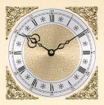 "7 7/8"" Metal Roman Clock Dial with Raised Corners"