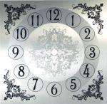 """7 1/4"""" Silver Metal Clock Dial"""
