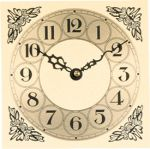 """6"""" Metal Clock Dial with Acorn Corner Design"""