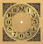 """7 1/2"""" Metal Arabic Clock Dial"""