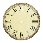 """8"""" Antique Roman Aluminum Clock Dial"""