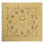 """14 1/4"""" Square Pre-punched Aluminum Parchment Clock Dial"""