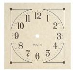 """7 7/8"""" Mission Parchment Paper Clock Dial"""