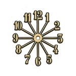 """4"""" Dia. Gold Starburst Numerals, Set of 1-12"""
